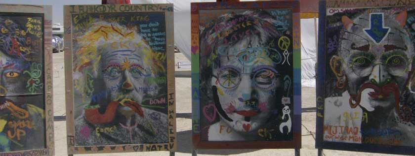 Burning man art project